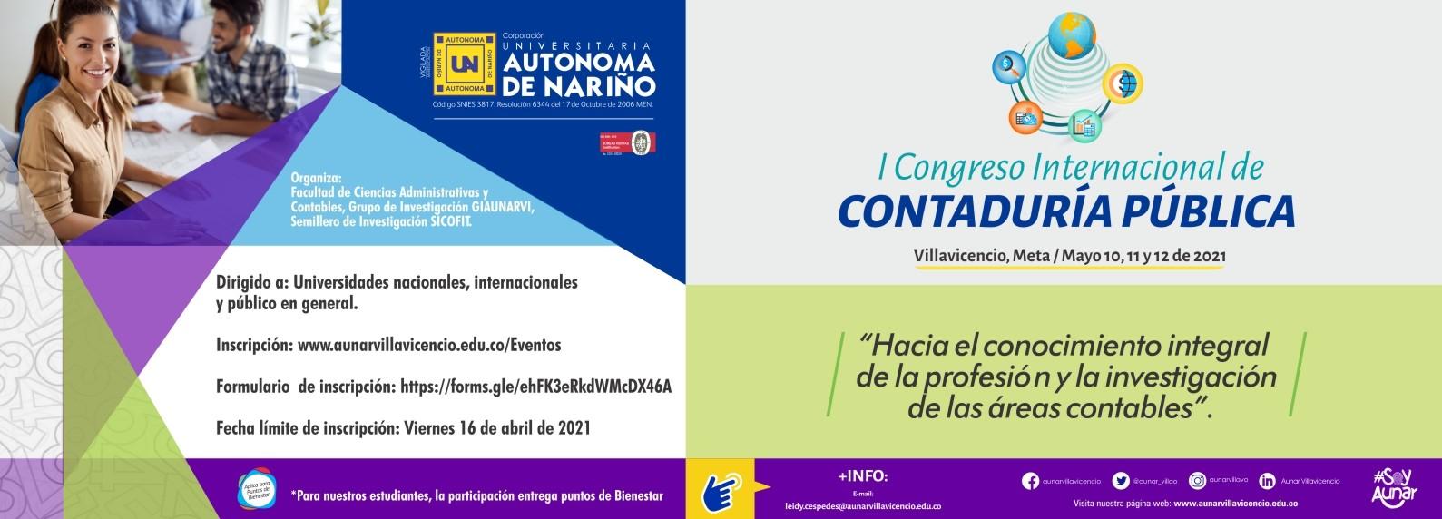 I CONGRESO INTERNACIONAL DE LA CONTADURÍA PÚBLICA